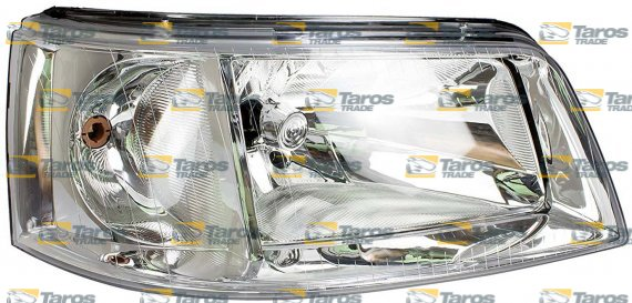 HEADLIGHT FOR H4 BULB ELECTRICAL WITH FRAME WITH MOTOR MANUFACTURER: TYC  FOR VOLKSWAGEN TRANSPORTER T5 2003 4-2009 10 RIGHT