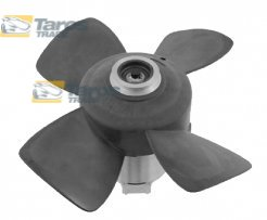 FAN WITH MOTOR WITHOUT SHROUD FOR VEHICLES WITH TOW BAR POWER 150/80 W DIAMETER 280 MM WITH 3 PIN CONNECTOR FOR AUDI 90, 90 COUPE 1987-1991