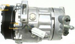 AC COMPRESSOR (NEW) SANDEN TYPE: SD7V16 BELT PULLEY DIAMETER (MM): 120 NUMBER OF RIBS: 6 FOR SAAB 9-3 2002-2007