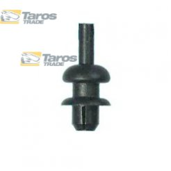 CLIP FOR REAR SHELF PACKING UNIT: 10 PCS DIMENSIONS ( A 10.7 B 6 C 3.3 D 3.1 H 5.7 ,Ø 6 ) MM FOR VOLKSWAGEN GOLF II 1983-1989