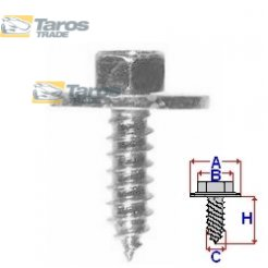 SPECIAL SCREW FOR LIGHTINGS PACKING UNIT: 10 PCS DIMENSIONS ( A 17.9 B 7.9 C 5.3 H 15.8 ) MM FOR OPEL KADETT E 1985-1988