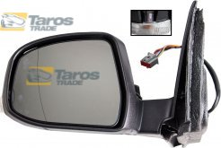 DOOR MIRROR ELECTRICAL PRIMED HEATED WITH FOOT LAMP POWER FOLDING DAMAGED FOR FORD MONDEO 2007-2010 LEFT