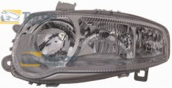HEADLIGHT FOR H1/H7/H7 BULBS ELECTRICAL WITH SILVER FRAME WITHOUT MOTOR FOR YEARS 2000-2004 MANUFACTURER: TYC FOR ALFA ROMEO 147 2000.10-2010.5 LEFT