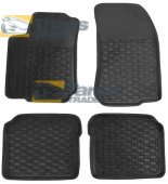 RUBBER FLOOR MAT BLACK FOR SKODA OCTAVIA I 1997-2004