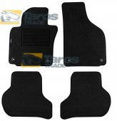 CARPET FLOOR MATS PETEX REX FABRIC BLACK 4 PCS WITH ROUND HOLES FOR VOLKSWAGEN JETTA 2005-
