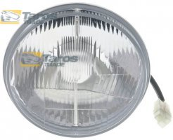 "HEADLIGHT WITH BULB COVER WITH WIRES ROUND DIAMETER 178 (7"") MM FOR H4 BULB MADE IN EU FOR TOYOTA HILUX 1972-1978"