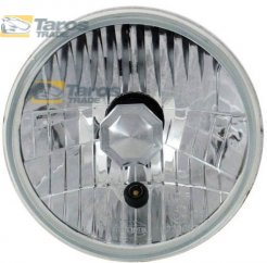 "HEADLIGHT WITH CLEAR LENS WITH PARKING LIGHT ROUND DIAMETER 178 (7"") MM FOR H4 BULB MANUFACTURER: AUTOPAL FOR TOYOTA HILUX 1972-1978"