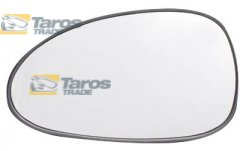 DOOR MIRROR GLASS WITHOUT HOLDER WITH ADHESIVE TAPE FOR DAEWOO - CHEVROLET NUBIRA 1997-1999 LEFT