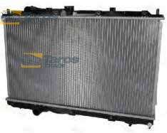 RADIATOR 667X375X18 DENSO TYPE INLET, OUTLET DIAMETER   35, 35 FOR MITSUBISHI COLT 1999-2005
