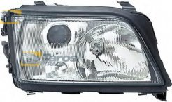 HEADLIGHT MANUAL/ELECTRICAL WITHOUT MOTOR FOR H1/H1 BULBS FOR AUDI A6 1994-1998 RIGHT