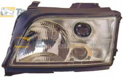 HEADLIGHT MANUAL/ELECTRICAL WITHOUT MOTOR FOR H1/H1/H3 BULBS FOR AUDI A6 1994-1998 LEFT