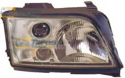 HEADLIGHT MANUAL/ELECTRICAL WITHOUT MOTOR FOR H1/H1/H3 BULBS FOR AUDI A6 1994-1998 RIGHT