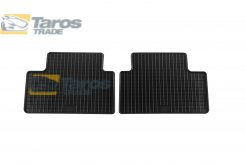 RUBBER FLOOR MATS BLACK 2 PCS FOR FIRST REAR ROW FOR MAZDA 5 2005.4-2010