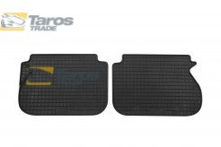 RUBBER FLOOR MATS PETEX BLACK 2 PCS REAR VERS. WITH 5 SEATS FOR VOLKSWAGEN CADDY 2004-2010