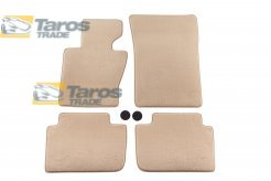 CARPET FLOOR MATS BEIGE 4 PCS COMET FABRIC FOR BMW JEEP X3 E83 2003.6-2006
