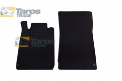 CARPET FLOOR MATS PETEX BLACK 2 PCS REX FABRIC FOR YEARS 2001-2004 FOR MERCEDES SLK R170 1996.9-2004.10