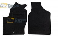 CARPET FLOOR MATS PETEX BLACK 2 PCS REX FABRIC UP TO 2000 FOR VOLKSWAGEN SHARAN 1995-2000
