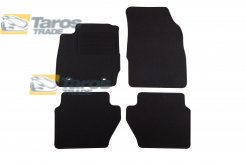 CARPET FLOOR MATS PETEX BLACK 4 PCS REX FABRIC FOR FORD FIESTA 2008-2013