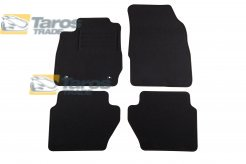CARPET FLOOR MATS PETEX BLACK 4 PCS REX FABRIC FOR FORD FIESTA 2013-