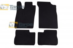 CARPET FLOOR MATS PETEX BLACK 4 PCS REX FABRIC FOR OPEL VECTRA A 1988-1992