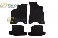 CARPET FLOOR MATS PETEX BLACK 4 PCS REX FABRIC VERS. WITH ROUND FIXATION FOR VOLKSWAGEN LUPO 1998.5-2002.12