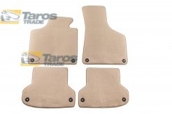 CARPET FLOOR MATS BEIGE 4 PCS COMET FABRIC FOR 3 DOORS FOR AUDI A3 2003-2008
