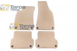 CARPET FLOOR MATS BEIGE 4 PCS COMET FABRIC FOR AUDI A4 2000-2004