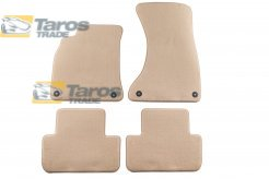CARPET FLOOR MATS BEIGE 4 PCS COMET FABRIC FOR AUDI A4 2007-2011