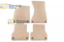 CARPET FLOOR MATS BEIGE 4 PCS COMET FABRIC FOR AUDI A7 2010-2014