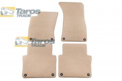CARPET FLOOR MATS BEIGE 4 PCS COMET FABRIC FOR AUDI A8 1.2003-1.2010