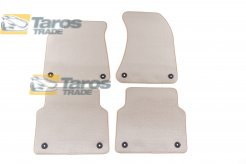 CARPET FLOOR MATS BEIGE 4 PCS COMET FABRIC FOR AUDI A8 2010-2013