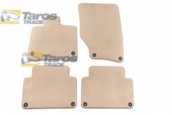 CARPET FLOOR MATS BEIGE 4 PCS COMET FABRIC FOR AUDI Q7 2005-2009