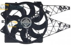 RADIATOR FAN 430 MM,385 MM,2 PIN WITH PRE RESISTOR FOR LANCIA DELTA 2008.7-