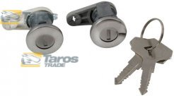 DOOR LOCK CYLINDERS SET FRONT WITH 2 MATCHING KEYS FOR RENAULT EXPRESS 1992-1994
