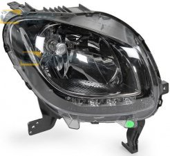 HEADLIGHT WITHOUT MOTOR WITH DAYTIME RUNNING LIGHT VALEO FOR SMART SMART FORFOUR 2015- RIGHT