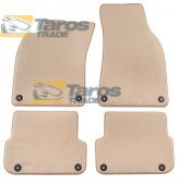 CARPET FLOOR MATS BEIGE 4 PCS COMET FABRIC FOR AUDI A6 2008-2010