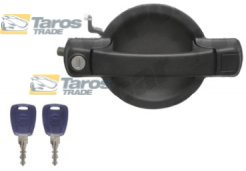 DOOR HANDLES AND LOCKS SET OUTER FRONT BLACK TEXTURED WITH KEYS FOR FIAT DOBLO 2001.1-2005.12 RIGHT