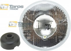 "HEADLIGHT WITH CLEAR LENS WITH PARKING LIGHT ROUND DIAMETER 178 (7"") MM FOR H4 BULB MADE IN EU FOR TOYOTA HILUX 1972-1978"